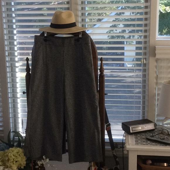 Ann Taylor Pants - Tweed wool wide legged crop pants